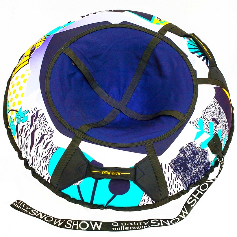 Санки надувные тюбинг дизайн - Одуванчики, диаметр 105 см.Ватрушки и ледянки<br>Санки надувные тюбинг дизайн - Одуванчики, диаметр 105 см.<br>