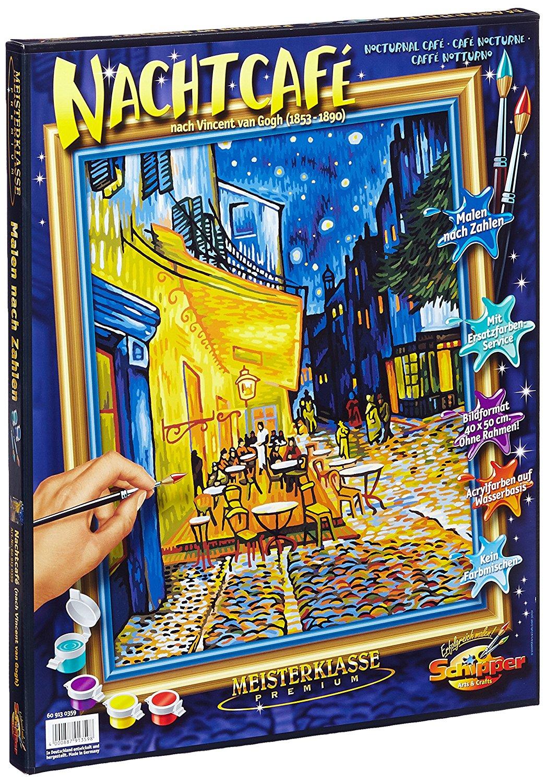 Купить Раскраска по номерам - Ночное кафе, художник Ван Гог, 40 х 50 см, Schipper