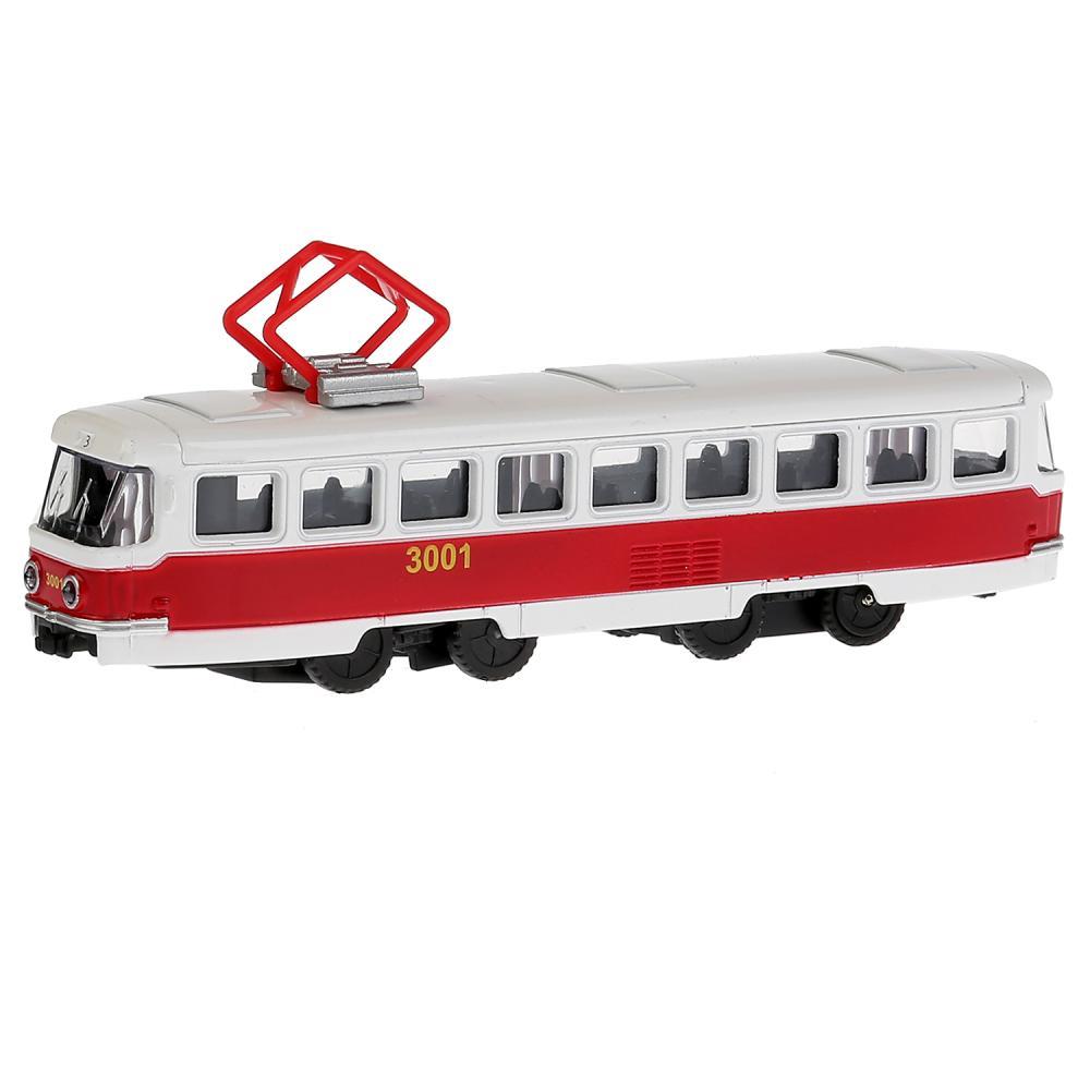 Купить Трамвай металлический инерционный, 16, 5 см, Технопарк