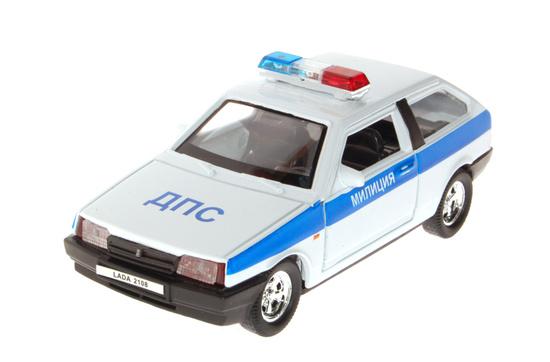 Модель машины - Lada 2108 Милиция ДПСПолицейские машины<br>Модель машины - Lada 2108 Милиция ДПС<br>