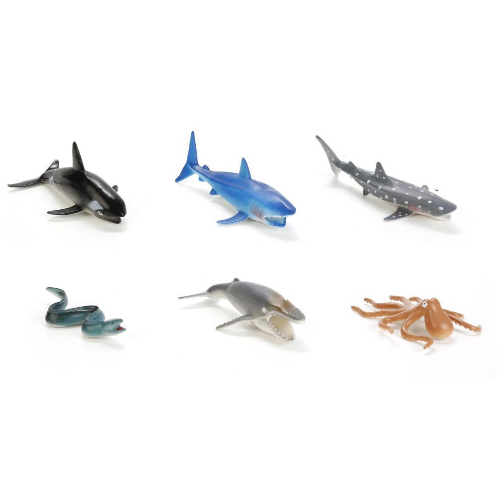Купить Набор из 6 морских животных, 10 см, Играем вместе