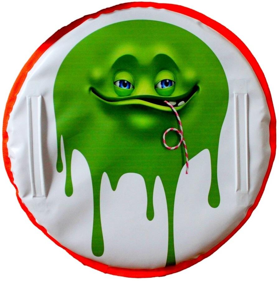 Ледянка Монстрик зеленый с трубочкой, 60см.Ватрушки и ледянки<br>Ледянка Монстрик зеленый с трубочкой, 60см.<br>