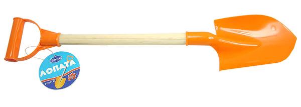 Купить Лопатка пластмассовая с деревянной ручкой, 53 см., ABtoys
