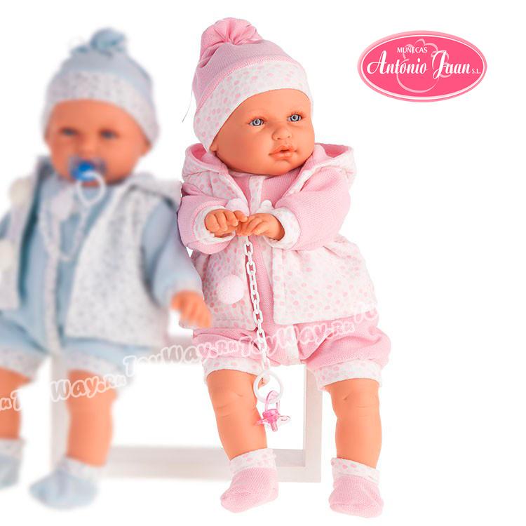 Кукла Бенита в розовом, озвученная, 55 см.Куклы Антонио Хуан (Antonio Juan Munecas)<br>Кукла Бенита в розовом, озвученная, 55 см.<br>