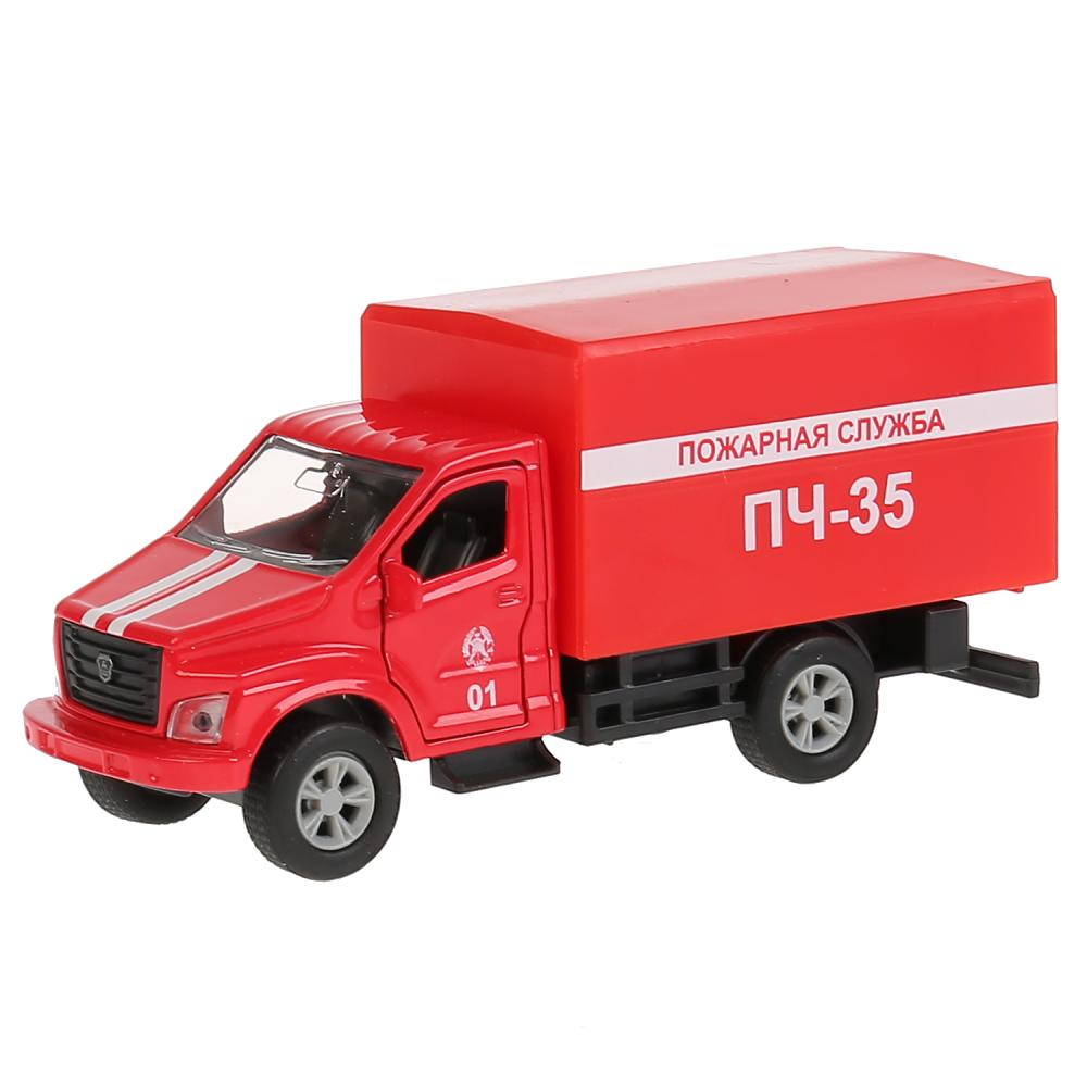 Купить Пожарная машина ГАЗ Газон Next 14, 5 см, открываются двери, металлическая инерционная, Технопарк