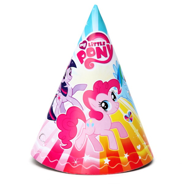 Купить Набор из 6 колпаков дизайн «Моя маленькая пони» sim), Веселый праздник
