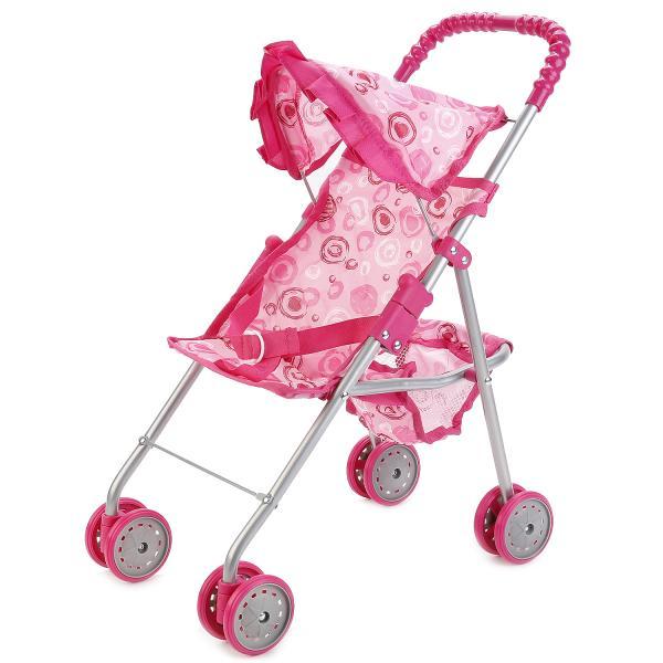 Коляска для кукол с корзиной и ремнем безопасности, розоваяКоляски для кукол<br>Коляска для кукол с корзиной и ремнем безопасности, розовая<br>