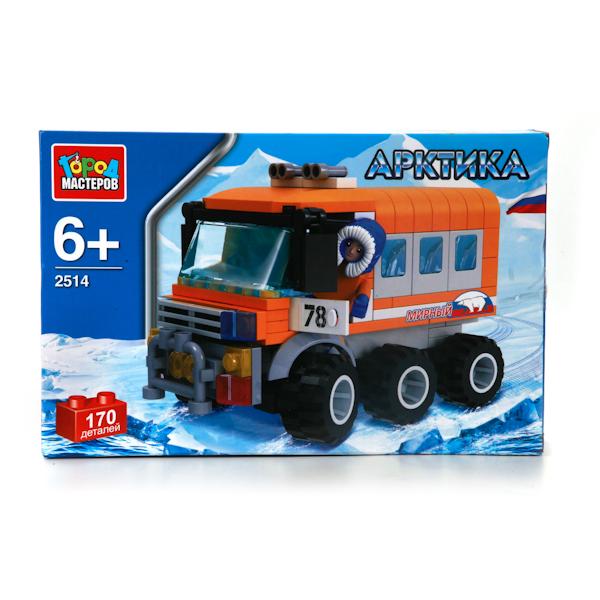 Конструктор Арктика – полярный вездеход, 170 деталейГород мастеров<br>Конструктор Арктика – полярный вездеход, 170 деталей<br>