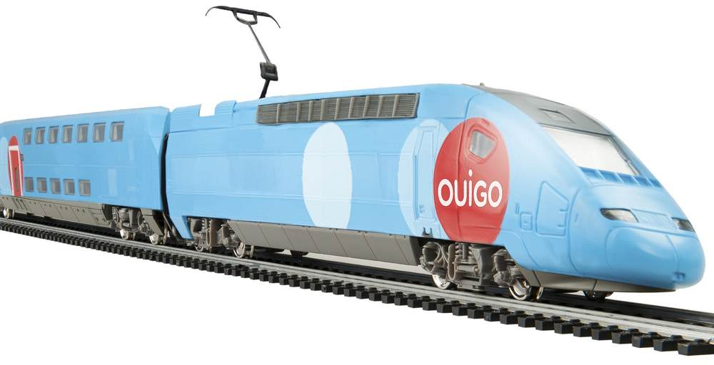 Железная дорога Mehano: Стартовый набор, двухэтажный Tgv Ouigo