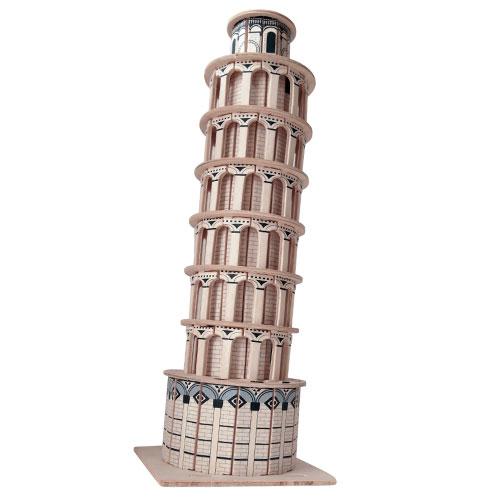 Модель деревянная сборная - Пизанская башняПазлы объёмные 3D<br>Модель деревянная сборная - Пизанская башня<br>