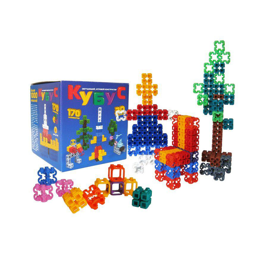 Конструктор Кубус Большой, 170 элементовКонструкторы других производителей<br>Конструктор Кубус Большой, 170 элементов<br>