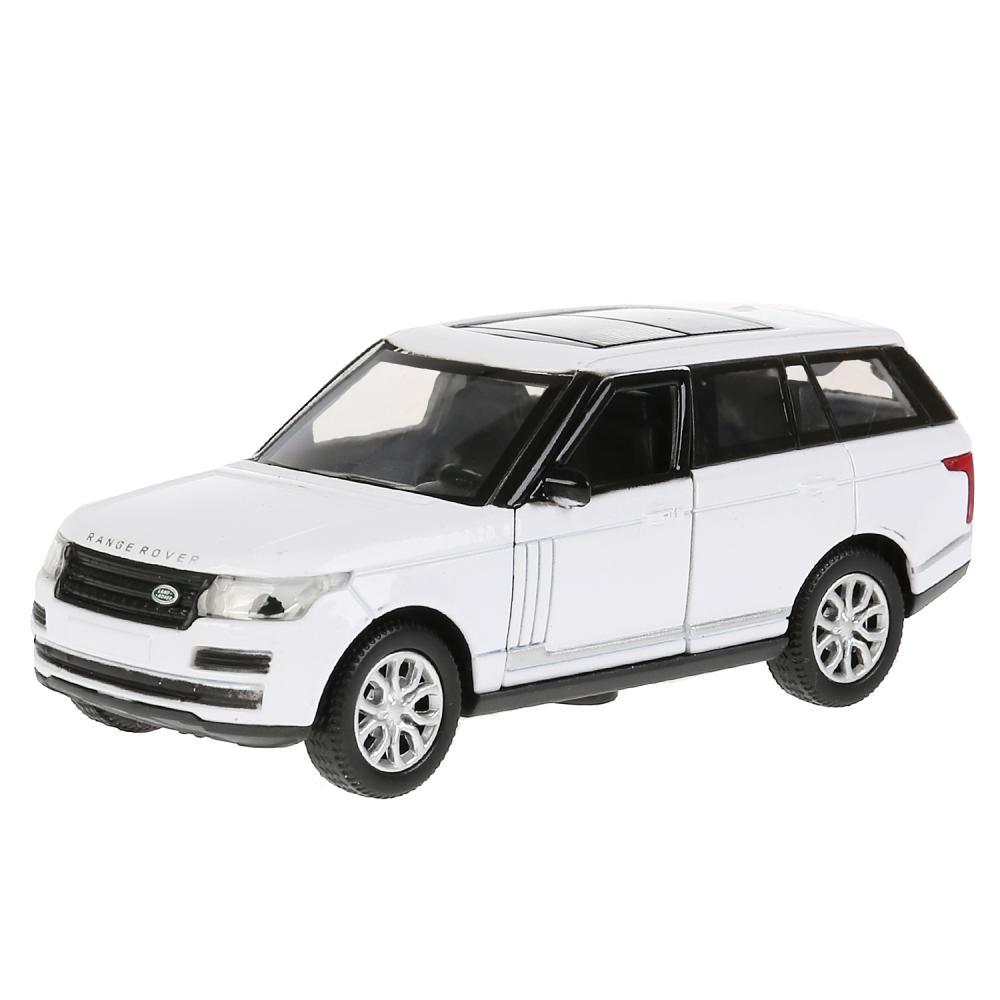 Купить Машина металлическая Range Rover Vogue, 12 см, открываются двери, инерционная, белая, Технопарк