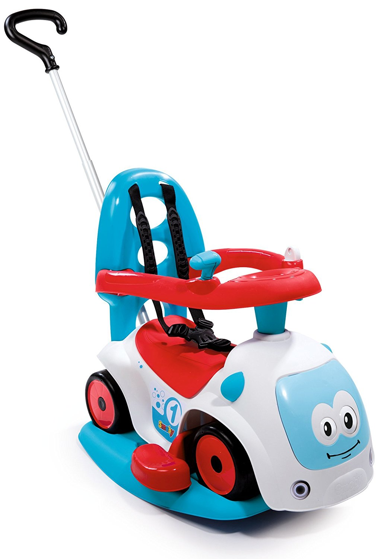 Машина каталка-качалка Smoby Maestro 2, бело-голубаяМашинки-каталки для детей<br>Машина каталка-качалка Smoby Maestro 2, бело-голубая<br>