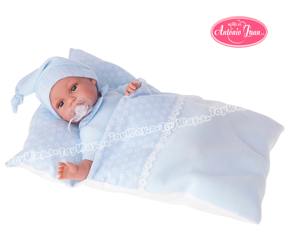 Кукла Эрнеста в голубом, озвученная, 34 см. от Toyway