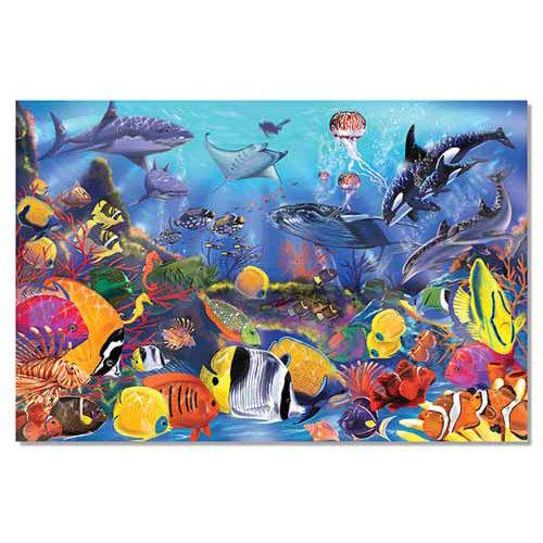 Напольный пазл - Под водой, 48 элементовКоврики-пазлы<br>Напольный пазл - Под водой, 48 элементов<br>