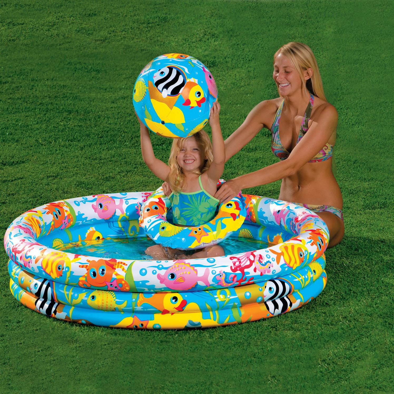 Intex Бассейн надувной Fishbowl Pool