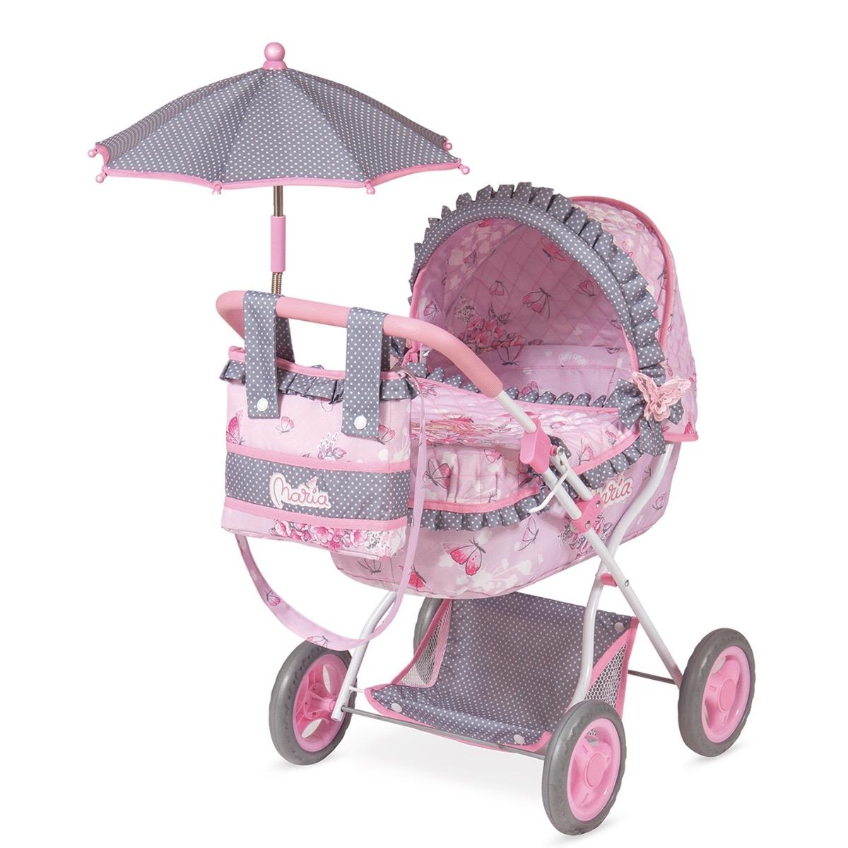 Коляска с сумкой и зонтом - Мария, 65 см