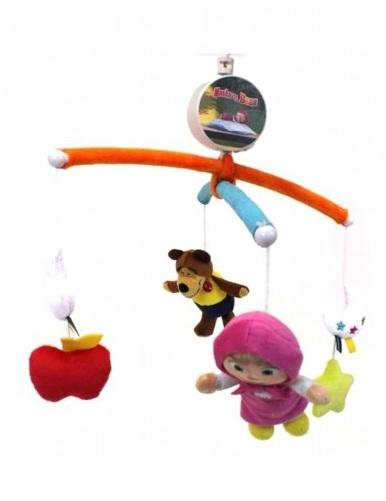 Мобиль музыкальный «Маша и Медведь»Мобили и музыкальные карусели на кроватку, игрушки для сна<br>Мобиль музыкальный «Маша и Медведь»<br>