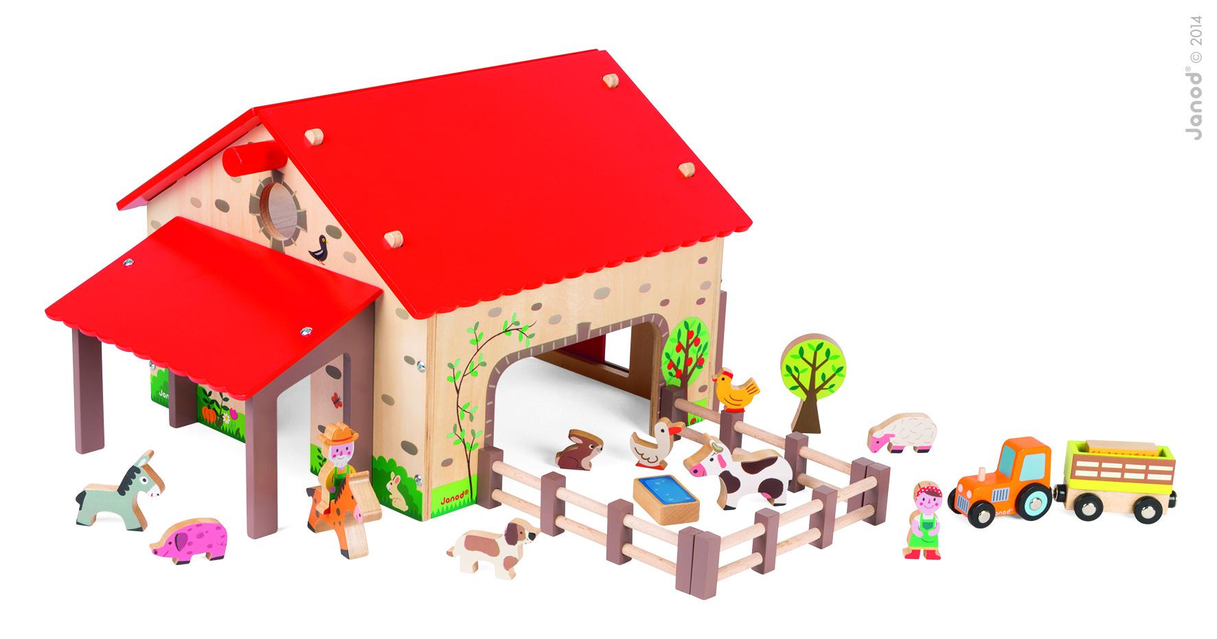 Набор для детей  Веселая ферма, 19 аксессуаров - Игровые наборы Зоопарк, Ферма, артикул: 160240