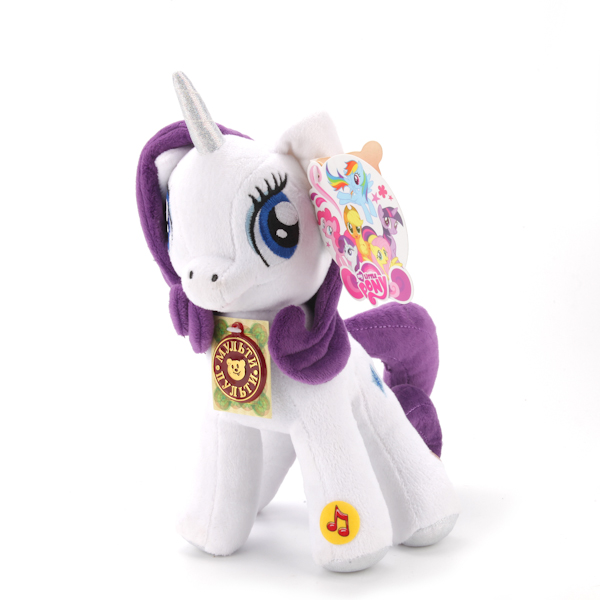 Мягкая игрушка пони Рарити из мультфильма My Little Pony, свет и звукМоя маленькая пони (My Little Pony)<br>Мягкая игрушка пони Рарити из мультфильма My Little Pony, свет и звук<br>