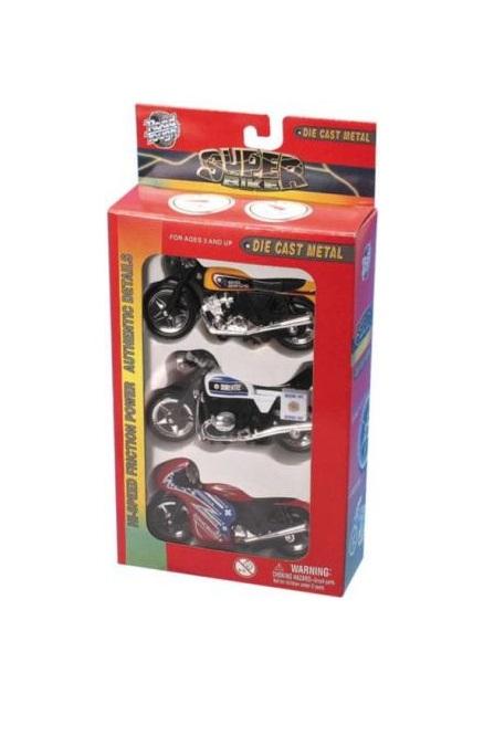 Набор из 3 мотоциклов, 2 видаМотоциклы<br>Набор из 3 мотоциклов, 2 вида<br>