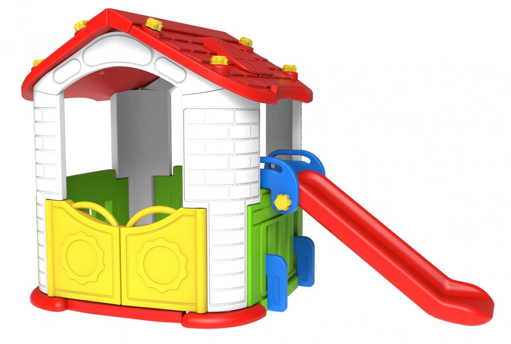 Игровой домик с горкой, Toy Monarch  - купить со скидкой