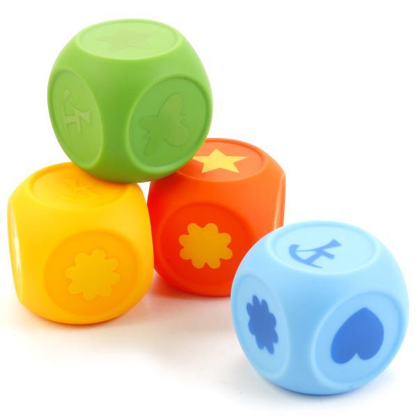 Набор из 4 игрушек для ванной – Кубы в сеткеРезиновые игрушки<br>Набор из 4 игрушек для ванной – Кубы в сетке<br>