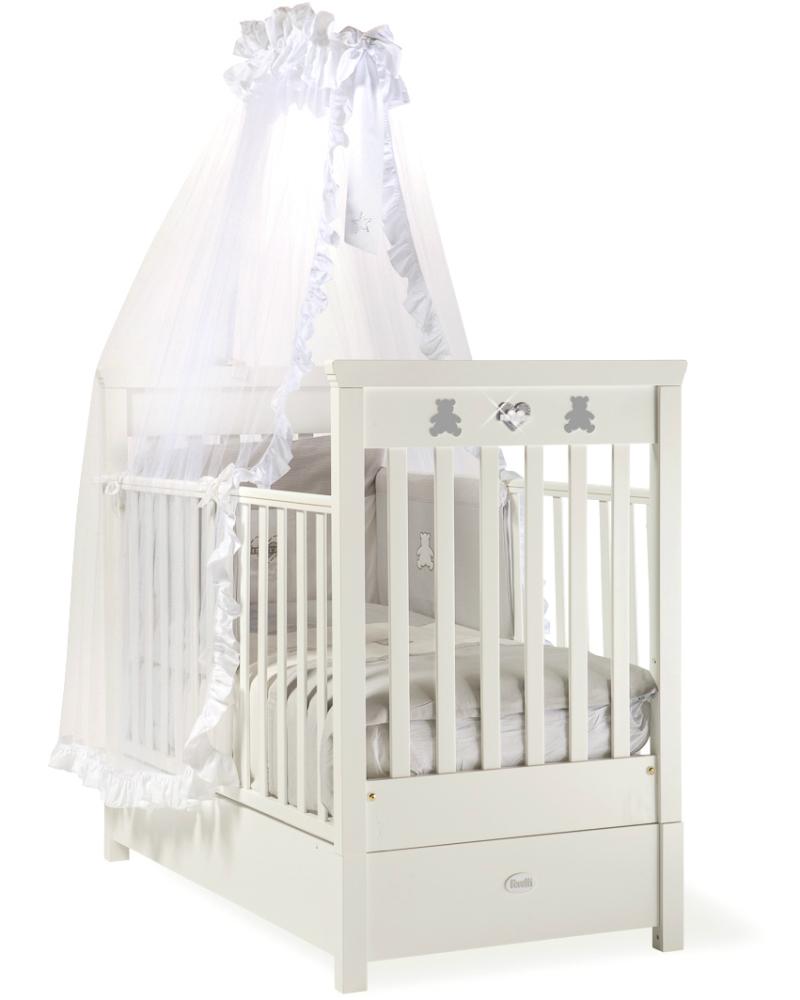 Кровать детская Feretti Fms Enchant Bianco/WhiteДетские кровати и мягкая мебель<br>Кровать детская Feretti Fms Enchant Bianco/White<br>