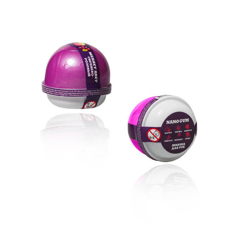 Жвачка для рук Nano Gum, сиренево-розовая, 25 гЖвачка для рук<br>Жвачка для рук Nano Gum, сиренево-розовая, 25 г<br>