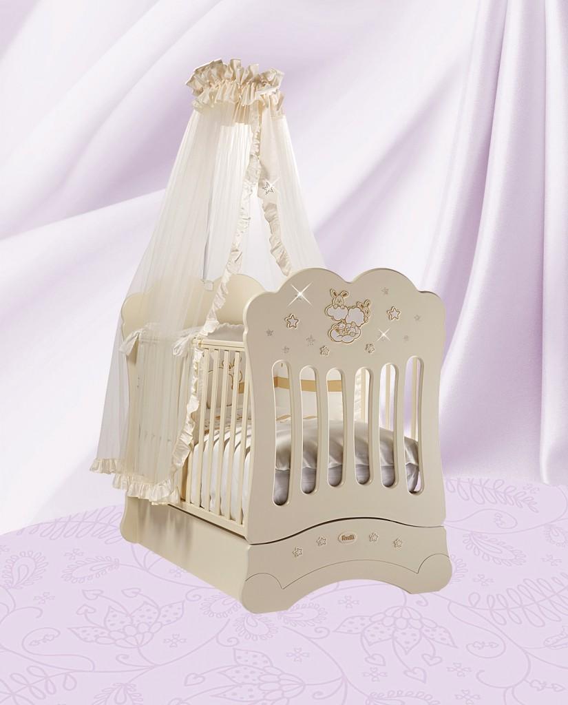 Кровать детская Feretti Fms Etoile Avorio/IvoryДетские кровати и мягкая мебель<br>Кровать детская Feretti Fms Etoile Avorio/Ivory<br>