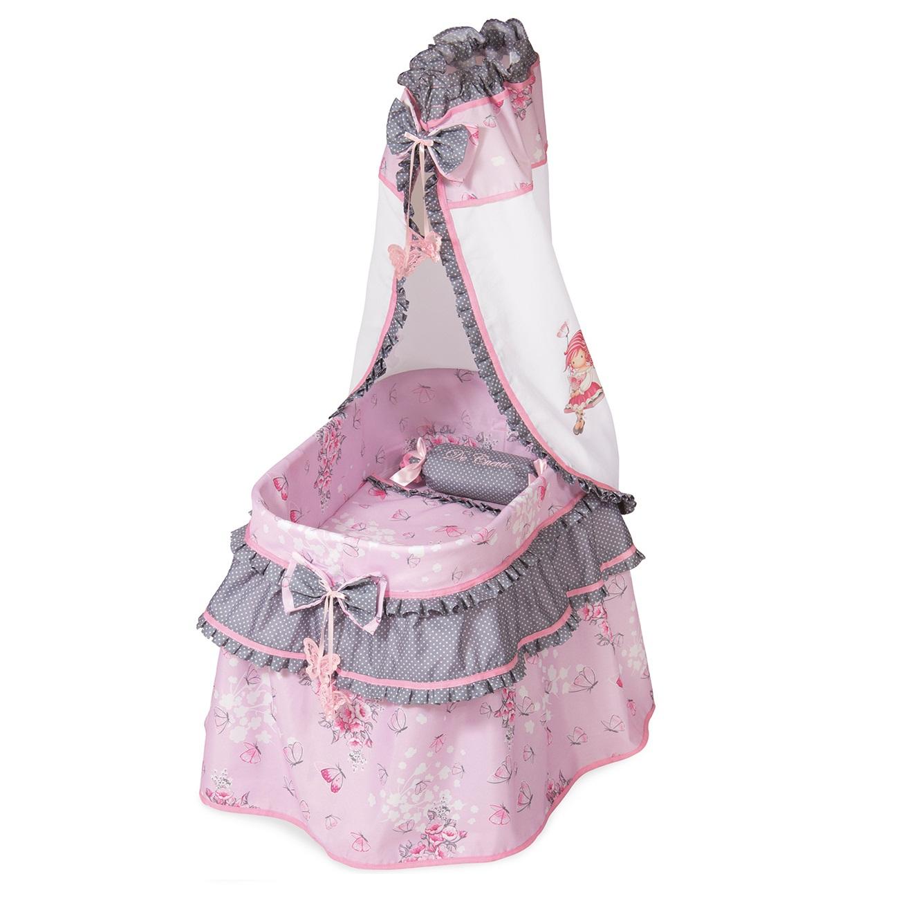 Кроватка с балдахином из серии Мария, 60 см - Детские кроватки для кукол, артикул: 169893