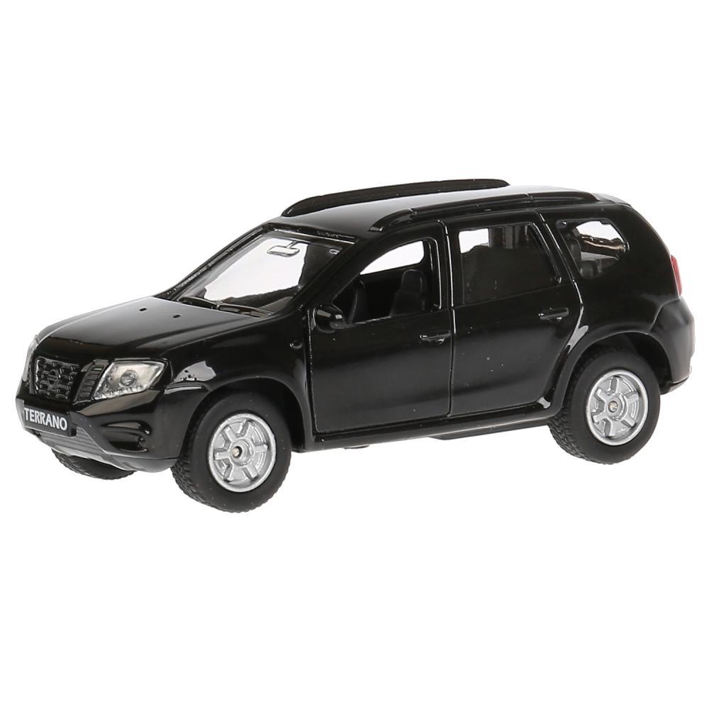 Купить Инерционная металлическая машина - Nissan Terrano, цвет черный, 12 см, открываются двери, багажник -WB), Технопарк