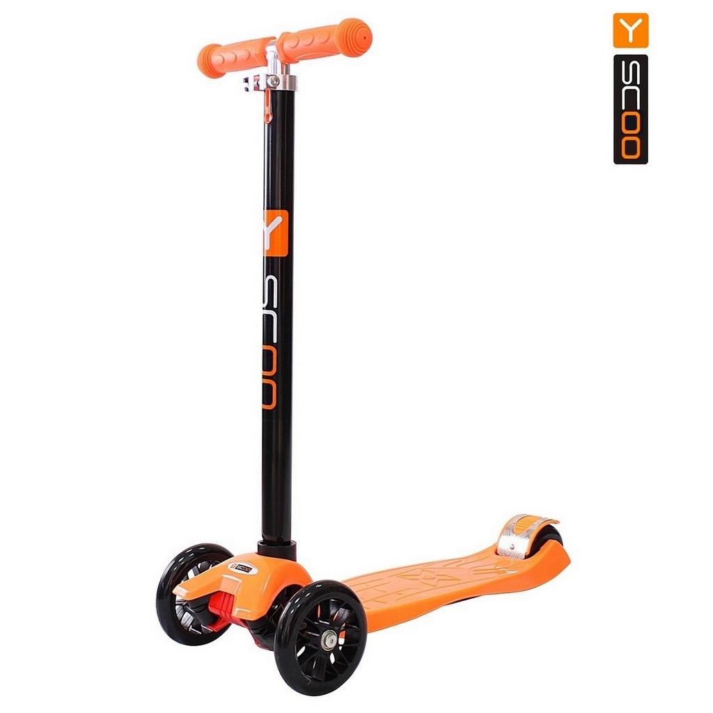 Купить Самокат Y-Scoo maxi A-20 Simple, оранжевый