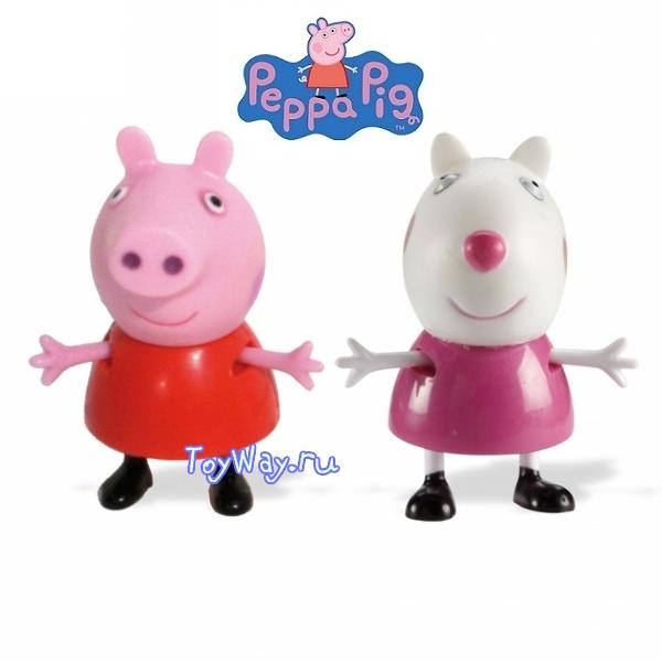 Peppa Pig. Набор  Пеппа и ее друзья  Пеппа и овечка Сьюзи - Свинка Пеппа (Peppa Pig ), артикул: 83979