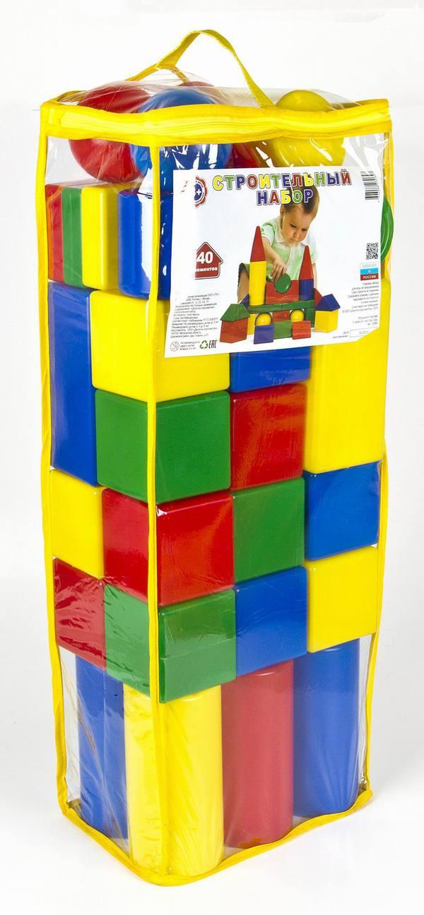 Набор строительных кубиков, 40 элементовКонструкторы других производителей<br>Набор строительных кубиков, 40 элементов<br>