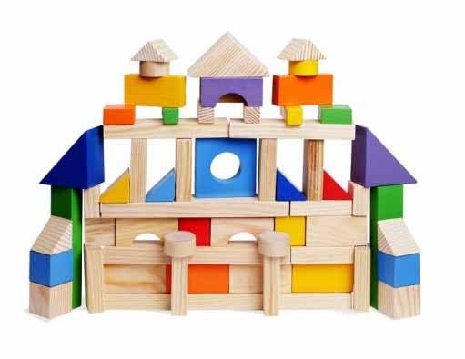Деревянный конструктор, 85 деталей, окрашено 20 деталей, Paremo  - купить со скидкой