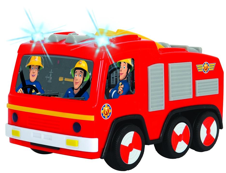 Купить Пожарный Сэм, пожарная машина Юпитер, 14 см со световыми эффектами, Dickie Toys