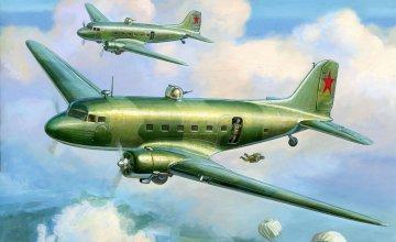 Модель сборная - Советский самолёт Ли-21/200Модели самолетов для склеивания<br>Модель сборная - Советский самолёт Ли-21/200<br>