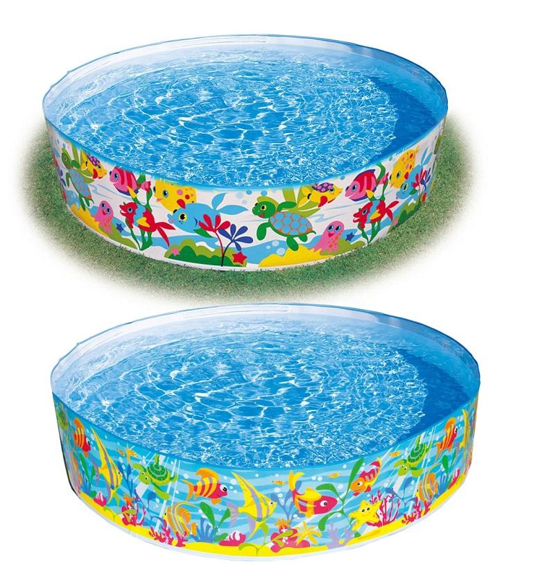 Бассейн каркасный круглый, дизайн АквариумДетские надувные бассейны<br>Бассейн каркасный круглый, дизайн Аквариум<br>