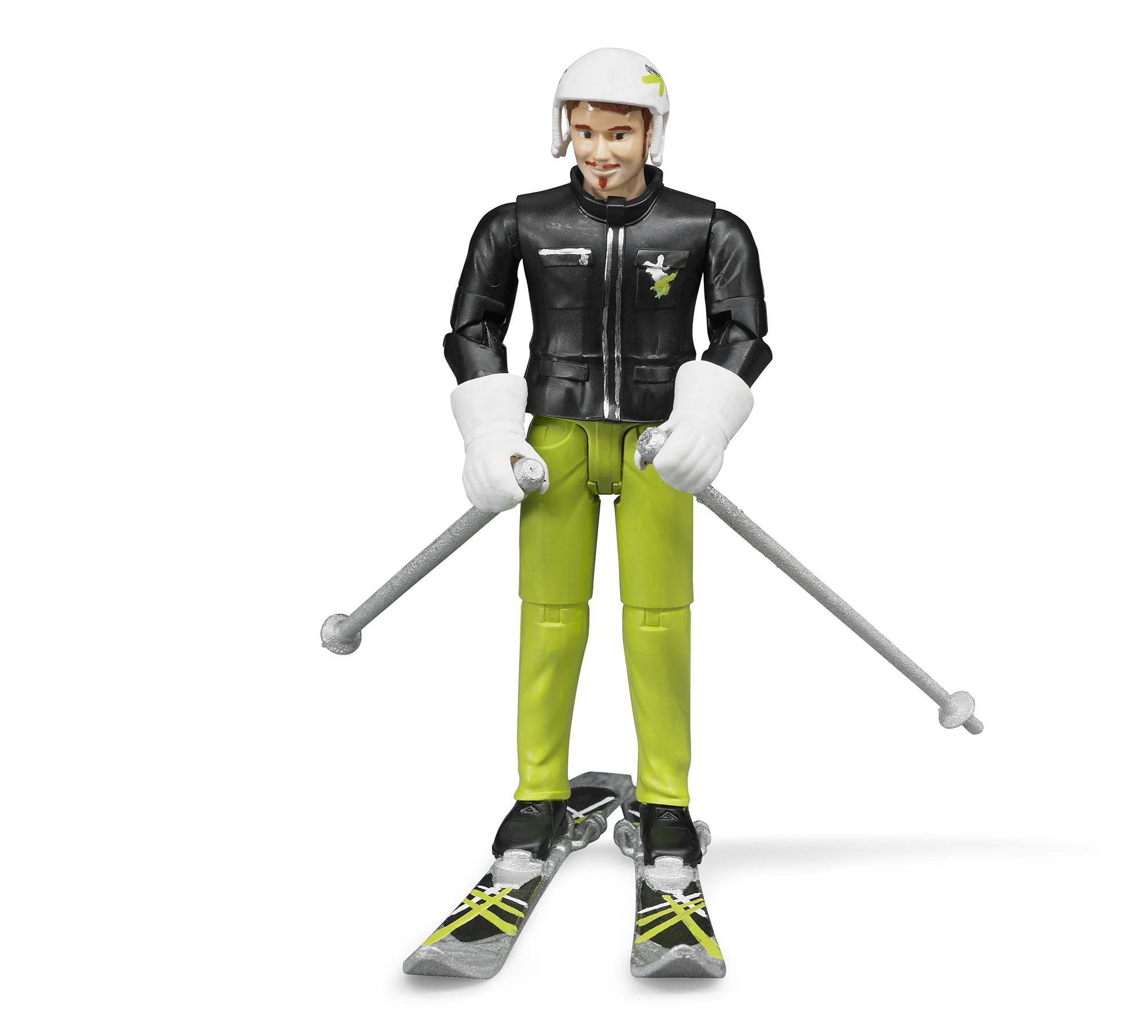 Bruder. Фигурка лыжника с аксессуарами по цене 1 111