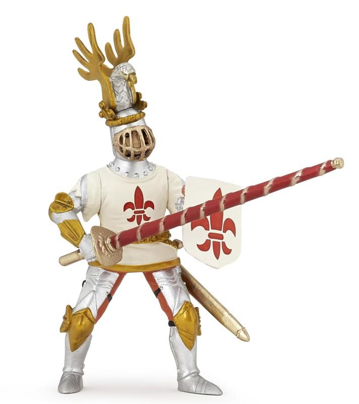 Игровая фигурка - Рыцарь с символом Флер де Лис, белыйФигурки Papo<br>Игровая фигурка - Рыцарь с символом Флер де Лис, белый<br>