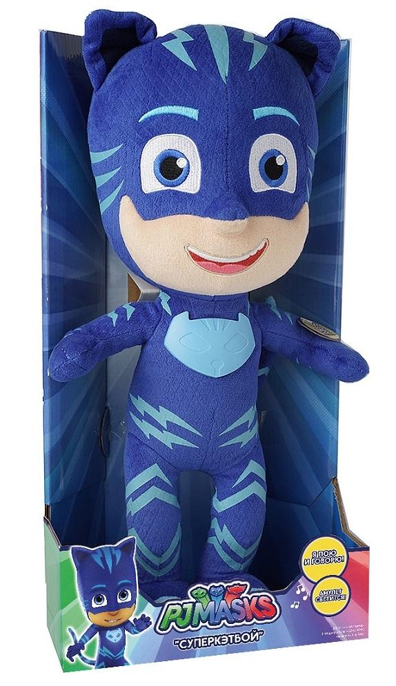 Мягкая игрушка со звуком Кэтбой из серии Герои в масках, 38 см. - Герои в масках (Pj Masks), артикул: 174261