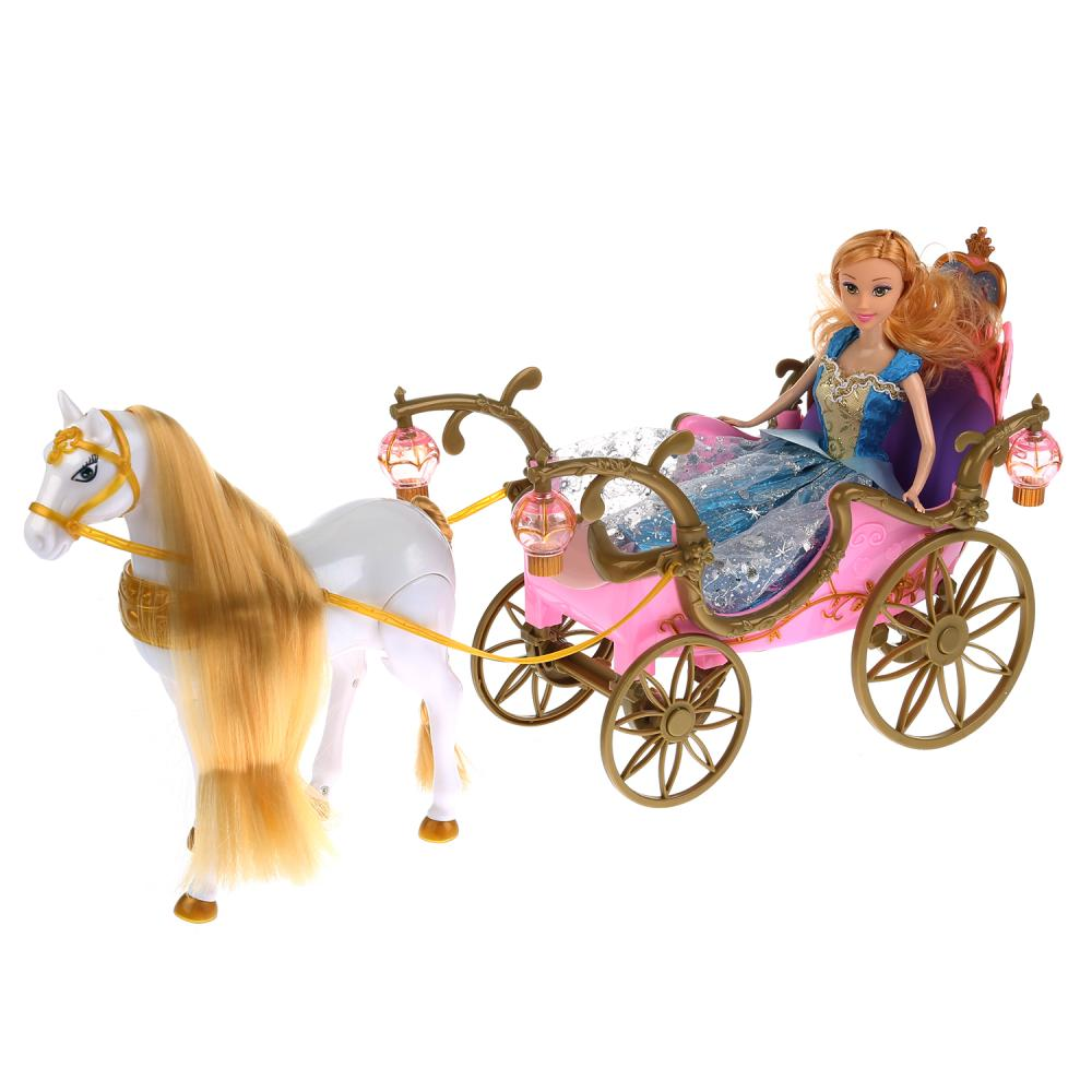 Карета с куклой и лошадью 252A, свет и звук фото