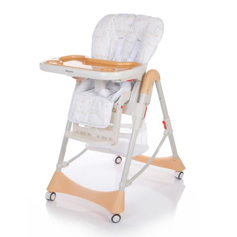 Детский стульчик для кормления Baby Care – Love Bear, бежевый