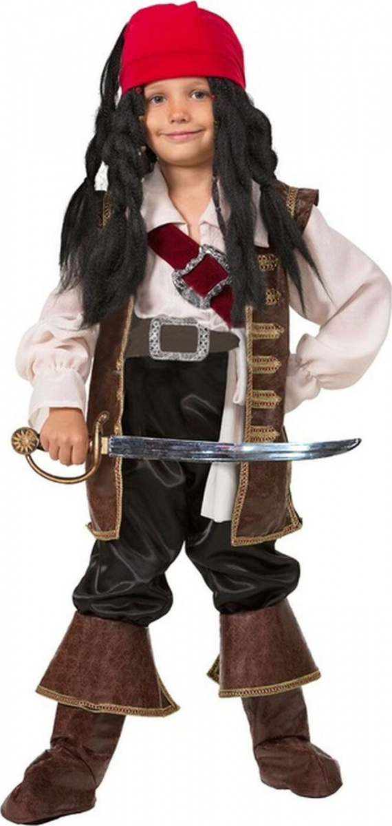 Карнавальный костюм из серии Звездный маскарад - Капитан Джек Воробей, размер 134-68 443 фото