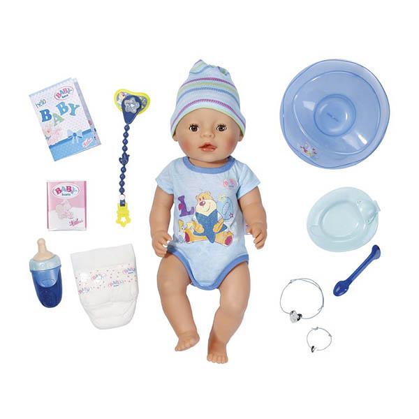 Кукла-мальчик интерактивная из серии Baby born, 43 см.Куклы-пупсы Baby Born<br>Кукла-мальчик интерактивная из серии Baby born, 43 см.<br>