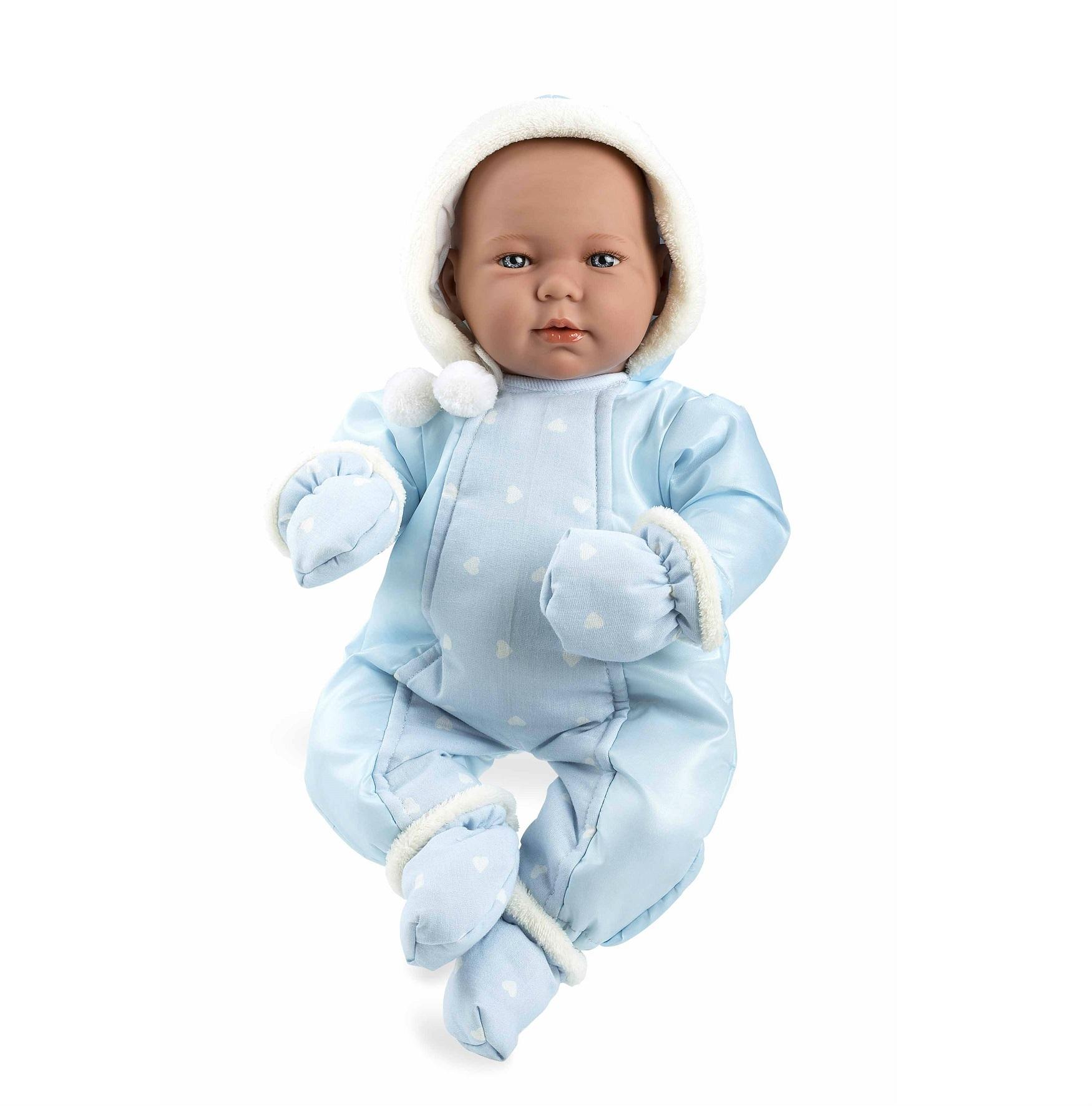 Купить Мягкий пупс из серии Arias Elegance в голубом костюме, с соской, плачет, 45 см.