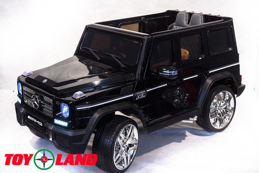 Электромобиль Mercedes Benz G65, цвет - черный глянецЭлектромобили, детские машины на аккумуляторе<br>Электромобиль Mercedes Benz G65, цвет - черный глянец<br>