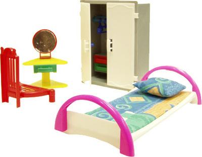 Игровой набор мебели - СпальняКукольные домики<br>Игровой набор мебели - Спальня<br>