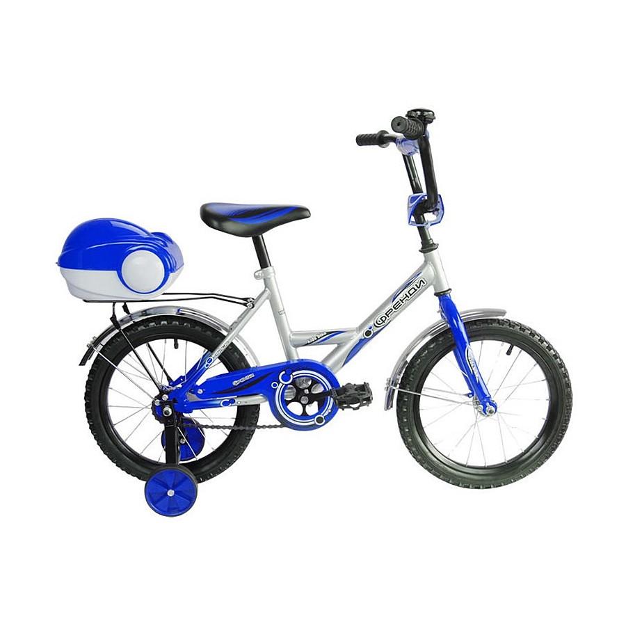 Двухколесный велосипед Мультяшка Френди, диаметр колес 16 дюймов, синийВелосипеды детские<br>Двухколесный велосипед Мультяшка Френди, диаметр колес 16 дюймов, синий<br>